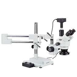 AmScope 3.5X-90X Boom Stand Zoom Magnification Stereo Micros
