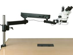 AmScope 3.5X-90X Trinocular Articulating Arm Pillar Clamp 14