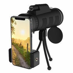 40x60 Zoom Monocular Telescope Scope For Smartphone Camera W