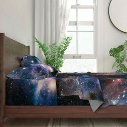 Space Galaxy Science Stars Telescope 100% Cotton Sateen Shee