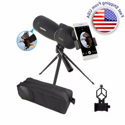 Spotting Scope 25-75X70 Telescope with Tripod Phone Adapter