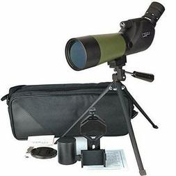 Gosky 20-60x60 HD Spotting Scope with Tripod, Carrying Bag a