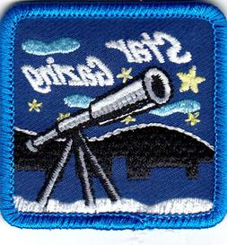 STAR GAZING Iron On Patch Stars Moon Astrology Telescope
