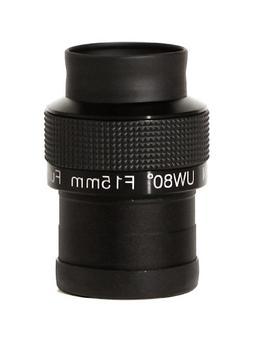 Olivon Super Wide 80-Degree 2-Inch Eyepiece, Black, 15mm