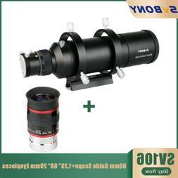"SV106 60mm Compact telescopes Guide Scope Kits+1.25"" 68° 20"
