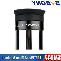 """SVBONY SV147 1.25"""" 10mm Plossl Eyepieces Telescopes Fully Mu"""