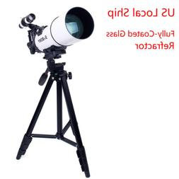 "SV20 Fully-Coated 90° Glass Refractor Telescopes+54""Tripod+"