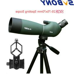 SVBONY SV28 25-75x70mm Angled Zoom Spotting Scope Telescope