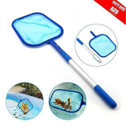 Swimming Pool Net Leaf Rake Mesh Skimmer With Telescopic Pol