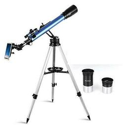 TELMU Telescope,60mm Aperture 700mm AZ Mount Astronomical Re