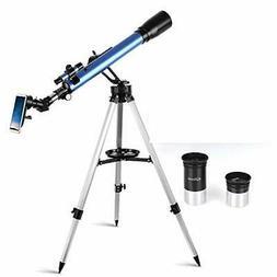 Telescope,60mm Aperture 700mm AZ Mount Astronomical Refracto