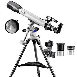 Telescope 70EQ Refractor Telescope Scope - 70mm Aperture and
