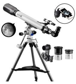 Telescope 70EQ Refractor Telescope Scope 70mm Aperture and 7