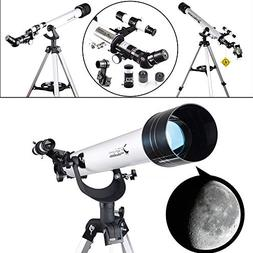 Landove Telescope,60AZ 700mm Travel Scope-Portable Telescope
