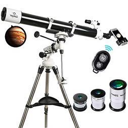 Telescope, 90mm Astronomy Refractor Telescopes with Smartpho
