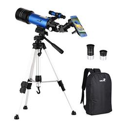 TELMU Telescope for Kids and Adults 70mm Portable Travel Tel