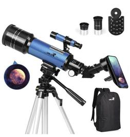 Telescope, Travel Scope, 70mm Aperture 400mm AZ Mount Astron