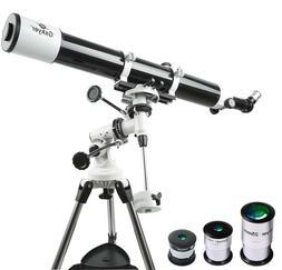 Telescope, Astronomy Refractor Telescope, 80mm Aperture Trav