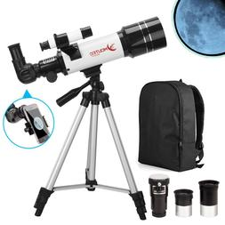 70mm Refractor Astronomical Travel Telescope for Kids Beginn