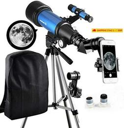 Telescope For Kids Beginners - Travel Scope 70Mm Apeture Por