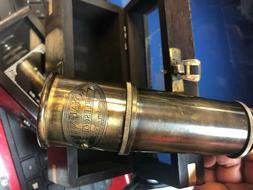 Telescope in Wood Box - Royal Navy Telescope London 1915 XL