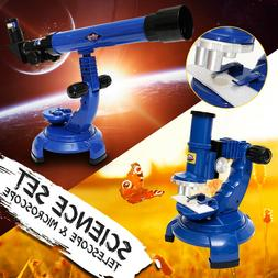 Telescope Microscope Set Science Nature Educational Astronom