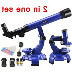 Telescope + Microscope Set Science Nature Educational Astron