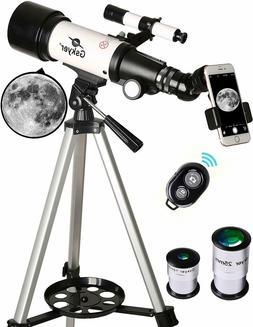 telescope 70mm aperture 400mm az mount astronomical