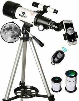 ✮ Telescope with 70 mm aperture, 400 mm, AZ mount, with ca