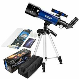 CSSEA 70mm Telescope for Kids and Astronomy Beginners, Trave