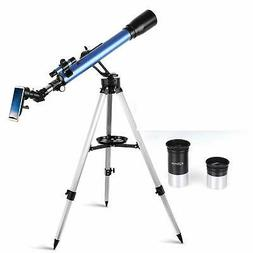 TELMU Telescope60mm Aperture 700mm AZ Mount Astronomical Ref