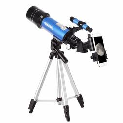 Telescopes for Adults Kids Beginners 70mm Lens Travel Scope