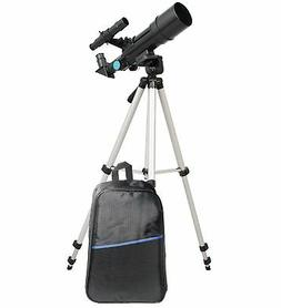 TwinStar 60mm Compact Refractor Telescope Backpack Bundle -