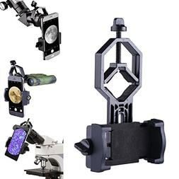 Universal Cell Phone Telescope Adapter Mount Compatible with