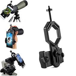 Universal Telescope Cellphone Adapter Mount, Work with Binoc