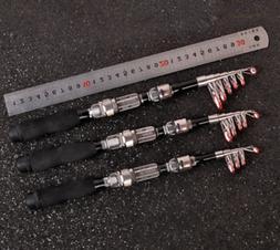 US Hard Carbon Portable Telescopic Fishing Rod Spinning Salt