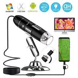 UMTELE 2MP USB Digital Microscope, 50X - 1600X Magnification
