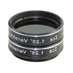 "ICE 1.25"" Variable Polarizing Eyepiece Filter for Telescope"