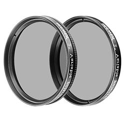 """Neewer 2PCs 2"""" Variable Polarizing Filters Optical Glass for"""