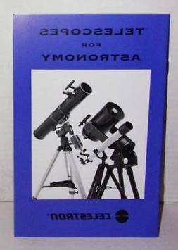 VINTAGE 1999 CELESTRON'S TELESCOPES FOR ASTRONOMY BOOK.  GRE