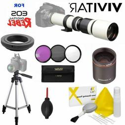 VIVITAR WHITE LINE PRO TELEPHOTO TELESCOPIC ZOOM LENS FOR CA
