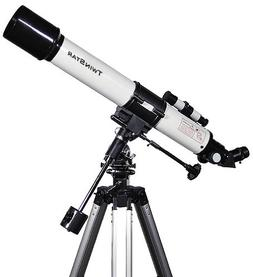 White TwinStar 70mm Refractor Telescope