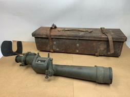 WWII W & L E Gurley US Army Azimuth Telescope M1910A1 Coasta