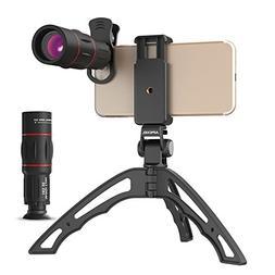 Apexel Zoom lens for Smartphone18X Telescope, Fisheye, Wide