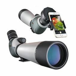 Landove 20-60x80 Zoom Spotting Scope - HD 24mm BAK4 Angled B